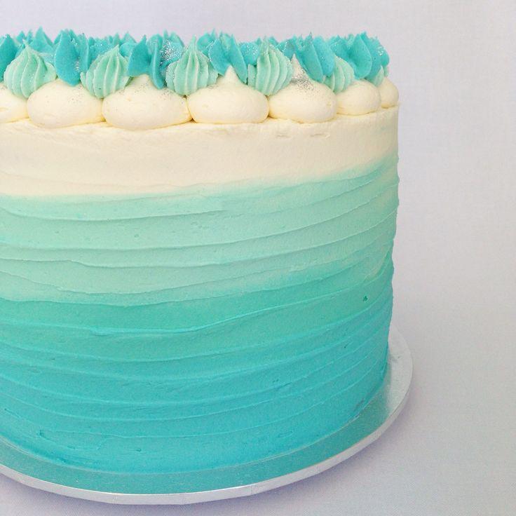 Ombré cake by www.breezyscakes.com.au
