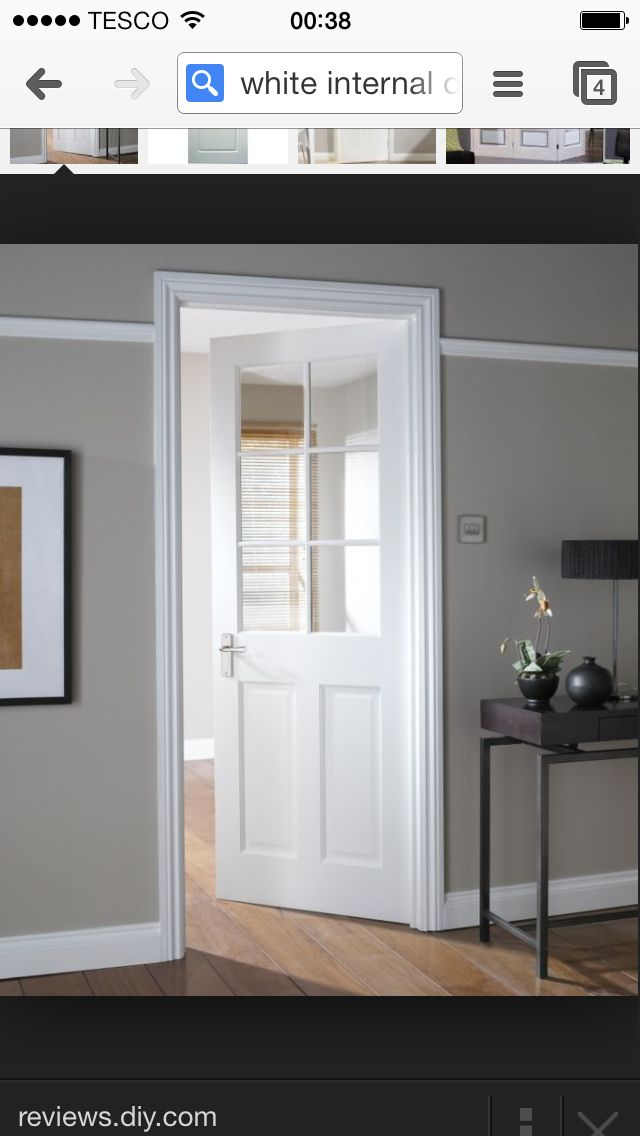 London Stile Rail 6 Light Glazed Internal Door