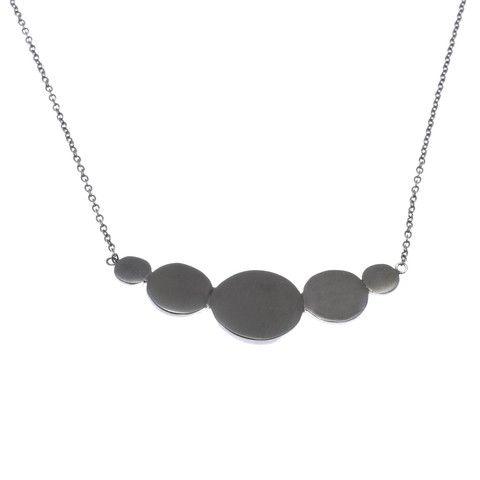 Bellabi, Sue rhodium, halskæde, sort sølv