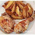 Cuisses de poulet marinées cuites au barbecue