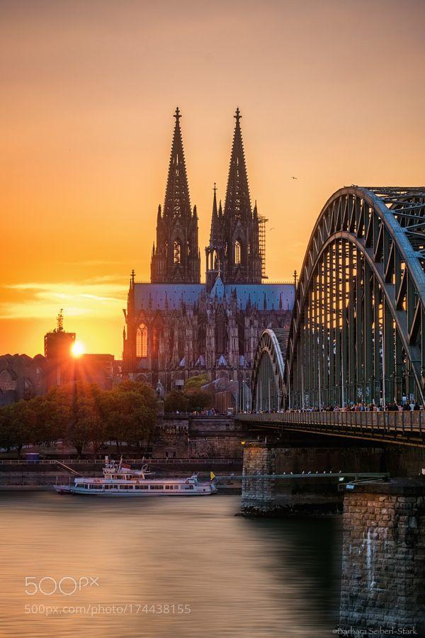 Popular on 500px : Köln Sunset by BarbaraSeiberl-Stark