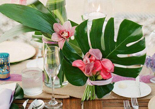 Te proponemos una opci n para decorar las mesas con flores for Ambientacion para bodas