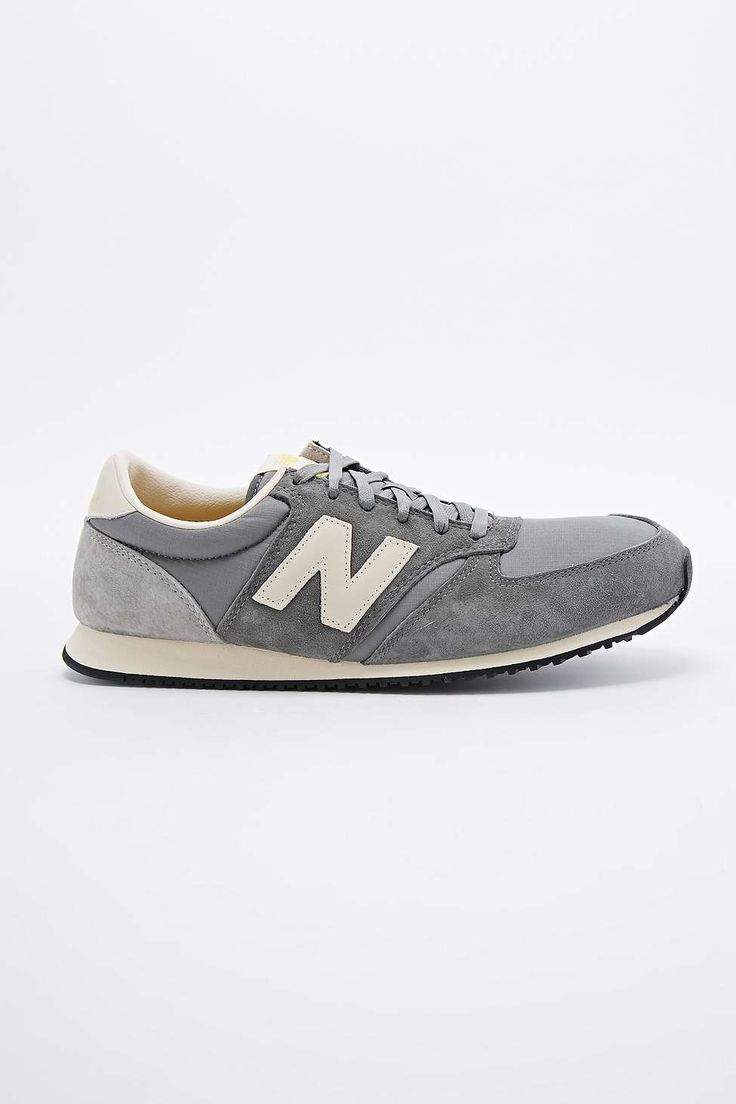 New Balance 420 Suede Runner Trainers in Grey