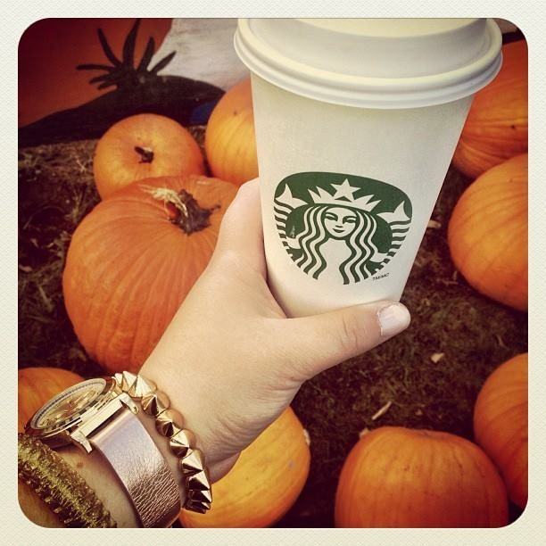 """Starbucks and pumpkin patch time"" taken last October at Aldor Acres Ltd. Submitted by @LeAnne Mockenhaupt via Instagram."