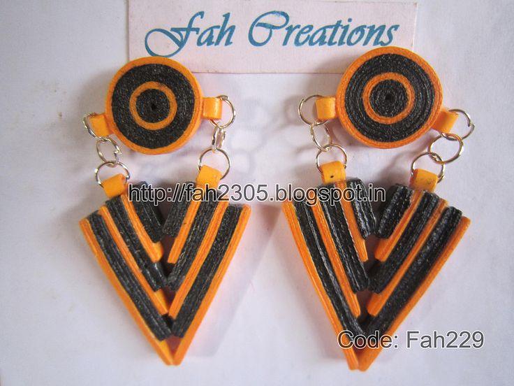 Fah Creation - Paper Quiilling Earrings (FAH229) (1)