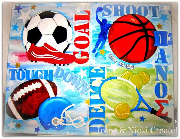Irene & Nicki Create!  :               CUSTOM SPORT CANVAS                 ...