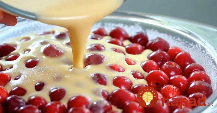 Francúzsky čerešňový koláč