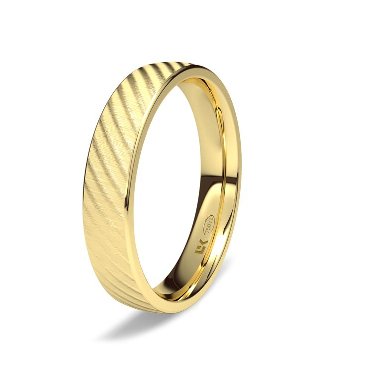 Alianza de oro amarillo de 18K modelo Roses #bodas #alianzas #novia   cnavarro.com