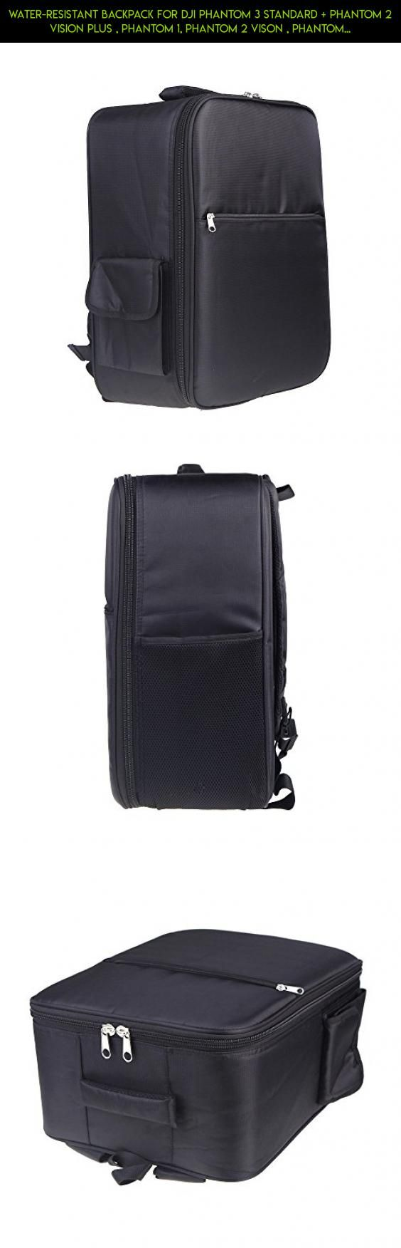 Water-Resistant Backpack for DJI Phantom 3 Standard + Phantom 2 Vision Plus , Phantom 1, Phantom 2 Vison , Phantom FC40, Fits Extra Accessories, GoPro and Laptop #parts #gadgets #standard #products #fpv #plans #3 #technology #tech #drone #camera #shopping #dji #case #racing #phantom #kit