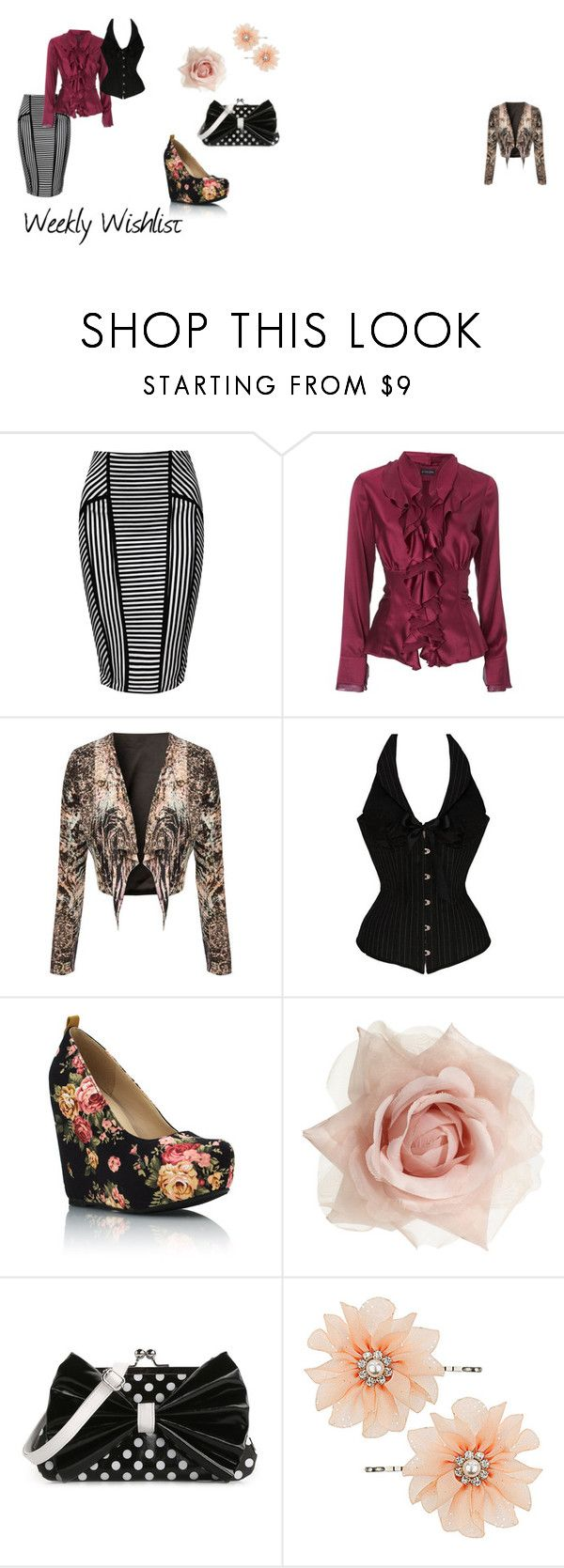 """""""Weekly Wishlist 22"""" by mellella ❤ liked on Polyvore featuring Jane Norman, Johnny Loves Rosie, Poppie Jones and Dorothy Perkins"""