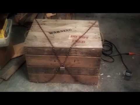 Monster in a Box, DIY Halloween Haunted House Prop - YouTube