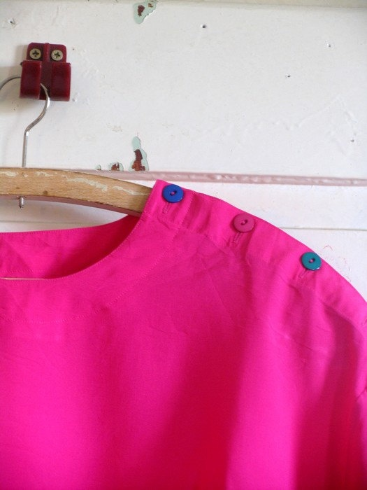 retro purple blouse 80s bluseoversize purple XXL by artwardrobe, $19.00