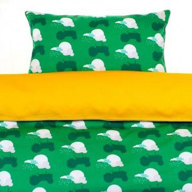 dekbed blafre tractor groen