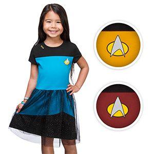 Star Trek TNG Starfleet Girls' Tulle Dress   ThinkGeek