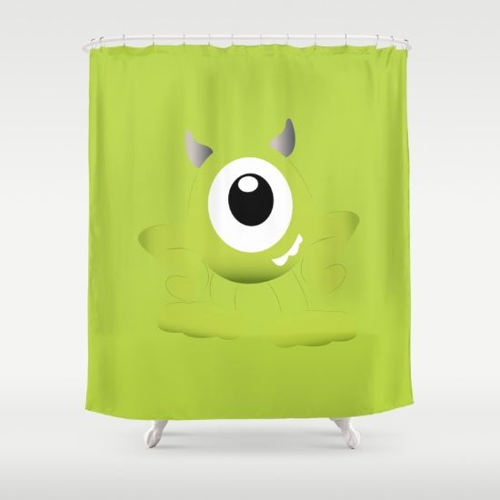 Buy Shower Curtains featuring Baby Mike Wazowski by happy patterns. Made from 100% easy care polyester our designer shower curtains are printed in the USA and feature a 12 button-hole top for simple hanging.