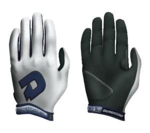 DeMarini Superlight A6150 Batting Gloves Pair Delivery Australia wide Full grain leather palm Sting-stopping finger and heel pads Perforated one-piece back Molded low profile DeMarini wrist strap with Neoprene band