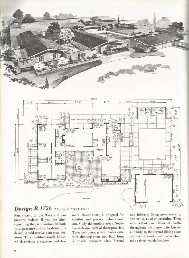 1000 images about h mcm house plans on pinterest mid for Western homes floor plans