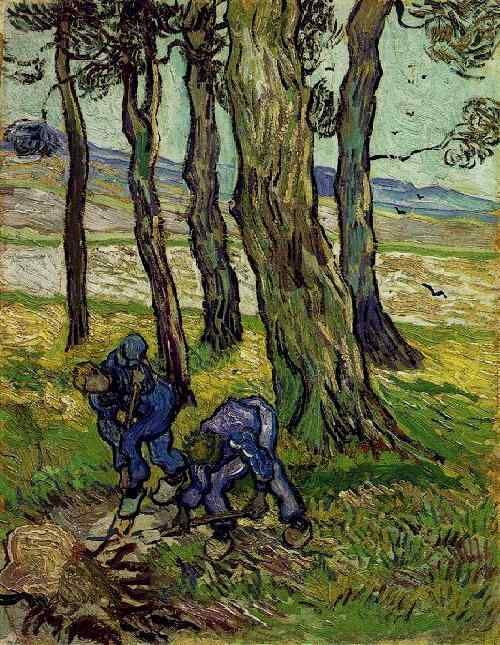 Vincent van Gogh: The Oil Paintings: Two Diggers among Trees. Saint-Rémy: November-December, 1889