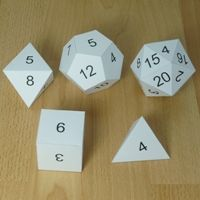 Platonic Solids dice numbers