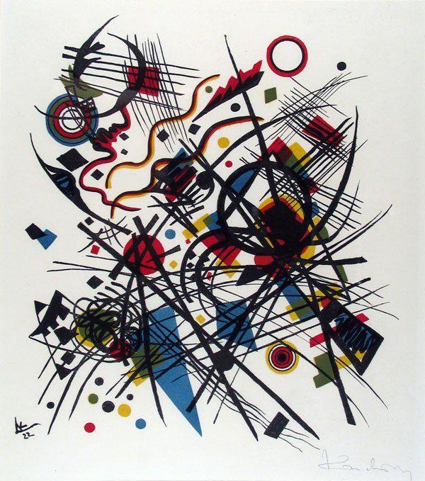 """Kandinsky - """"Composición con triángulo azul"""", 1922."""