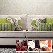 Change the character and ambience of your home with the toss of a cushion or three! The fabulous Trio cushion covers come as a colour co-ordinated set of three, comprising a modern floral design, an eye-catching ruched cushion cover and a soft, multi stripe. Select one colour theme or mix together to create your own personal and very individual style.