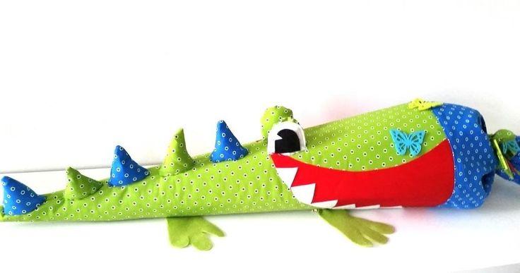 Amazon.de: Schultüten/ Kissen Nähset Krokodil mit Anleitung, Material und Schultüte 80 cm
