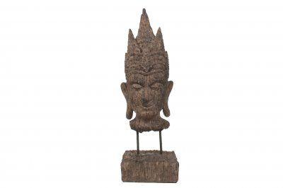 Buddha-huvud på ställning