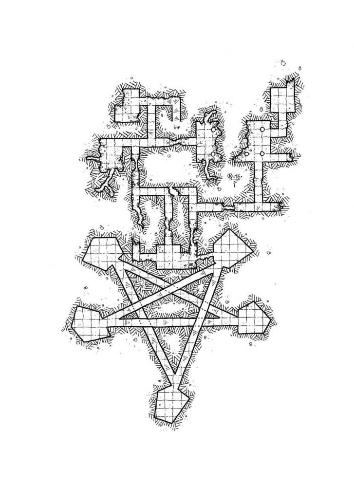 #Mapvember Day 23 : #Revelation  Melok's Temple  437 th Days, The temple is located in the small isolate village of Logald. The construction with an interesting architecture had been sacked shortly before my passage. The villagers had just realized that he was being manipulated by their local lord. Baron Duzar had created from scratch the Melok god in order to facilitate their enslavement ! The baron was hanged, and the villagers destroyed all the symbols of the fallen god, even exploding…