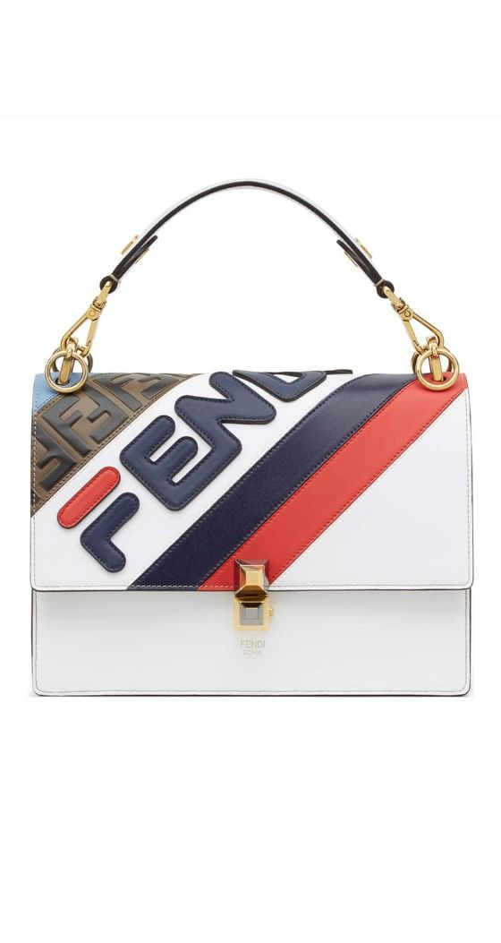 5bc64972e FENDI x FILA - Mania Logo Shoulder Bag Two Italian icons come together on  this leather shoulder bag branded with a Fendi-FILA logo remixed by British  ...