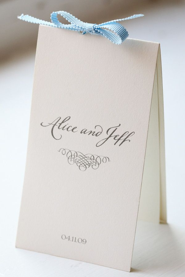Simple ceremony program/ Order of Service (love this Amy and Jeff!)