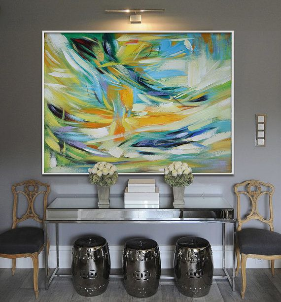 Handmade Large Painting Original Art Large by CelineZiangArt