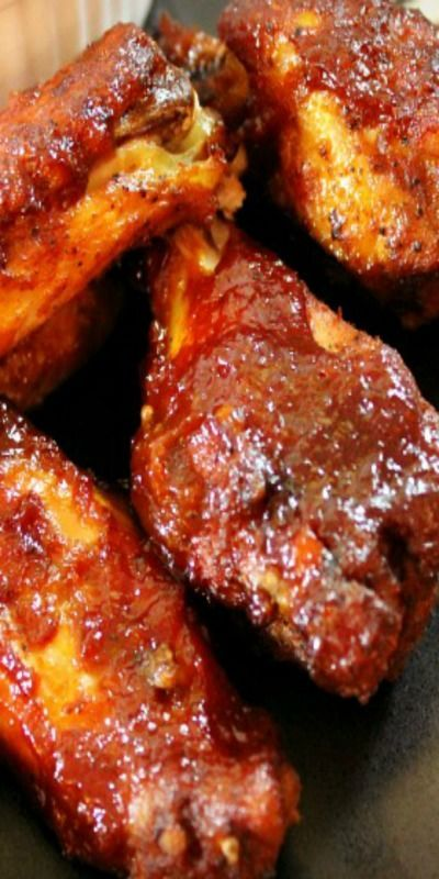 Slow Cooker BBQ Chicken Wings - these wings cook up moist and tender on the inside and then crisp up on the outside after placing in the broiler for a few minutes.
