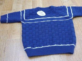 Blauw witte trui Jongens trui Trui in relief door FrancienCreations