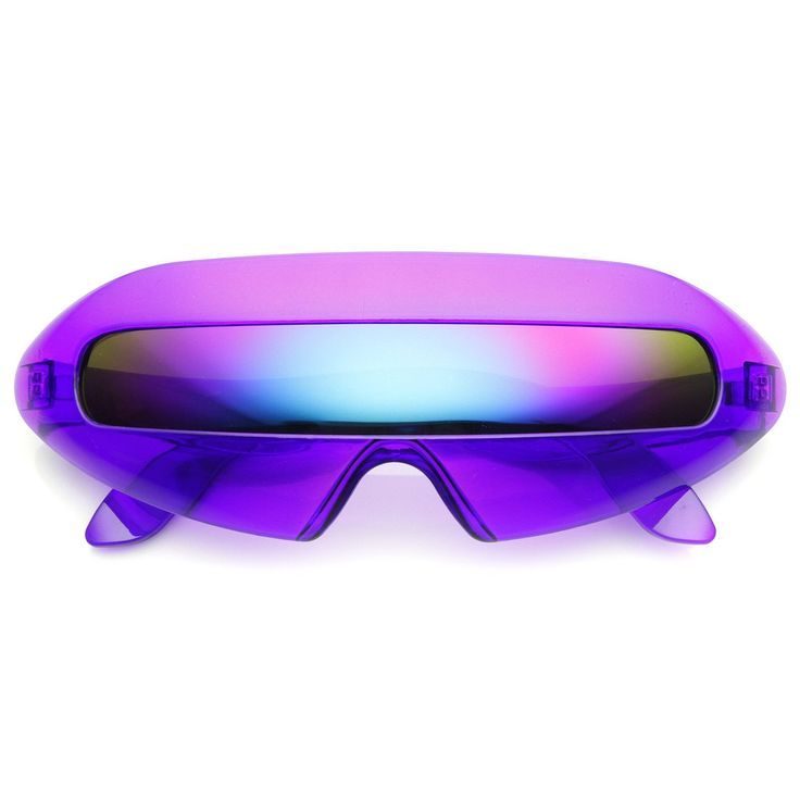 Description Measurements Futuristic frame design sunglasses that are sure to draw the attention of any crowd with a neon color frame and an eye-catching color mirrored lens. Available in a variety of colors that are perfect for anyone making a statement at the party! Made with an acetate based frame, metal hinges and polycarbonate UV protected shield lens. Lens Width: 138mm Nose Bridge: 20mm Lens Height: 22mm Total Width: 184mm Free Shipping Over $25 For USA Domestic Customers Click Here For… Revo Sunglasses, Novelty Sunglasses, Mirrored Sunglasses, Cool Sunglasses, Futuristic Sunglasses, Retro Mirror, Retro Futuristic, Futuristic Outfits, Cool Items