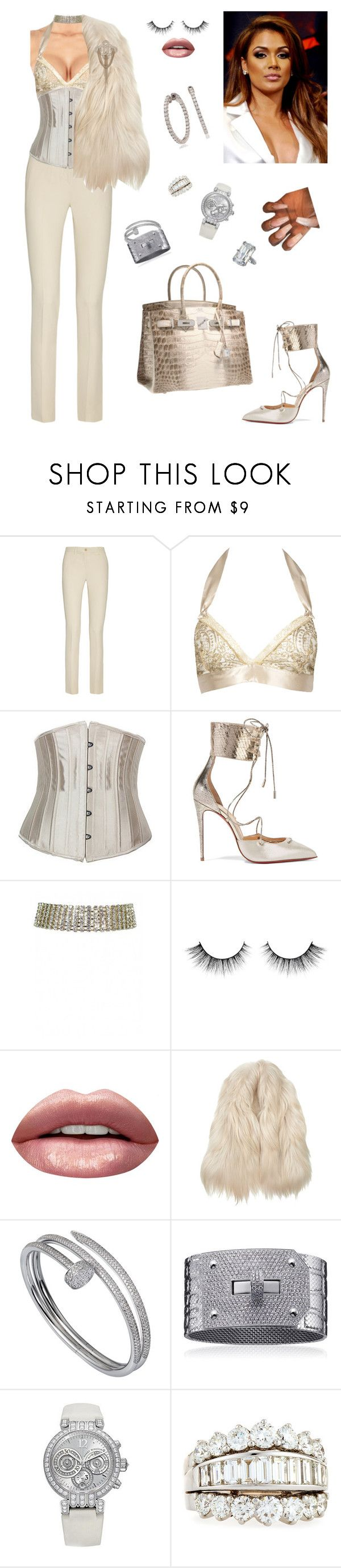 """""""Front Row at mayweather vs. Mcgregor fight!"""" by styledbystaes ❤ liked on Polyvore featuring Etro, Gilda & Pearl, Christian Louboutin, Huda Beauty, Maison Margiela, Cartier, Harry Winston, Chanel, Picchiotti and Chopard"""