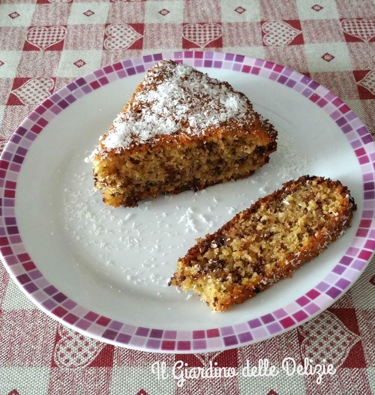 Torta+di+mais+al+cocco+e+cioccolato