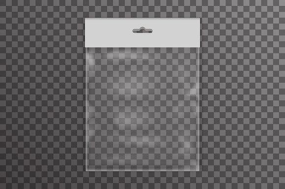 Download Realistic Plastic Pocket Bag Plastic Bag Icon Transparent Background Vector Illustration Bagged Clear Pack Poc Pocket Bag Graphic Design Posters Print Stickers