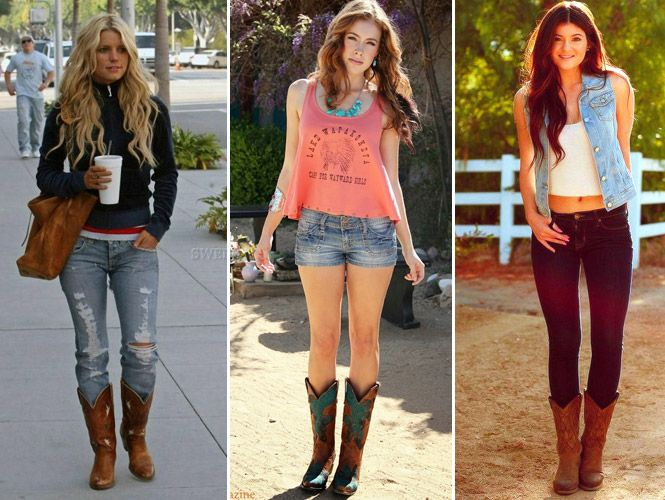 nueva apariencia pensamientos sobre mujer Botas Texanas Femininas Looks e como usar | 1A | Botas ...