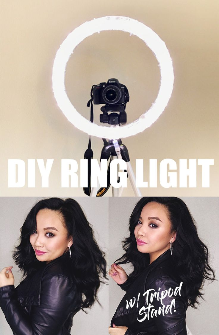 DIY RING LIGHT w/ TRIPOD STAND: The ONLY tutorial that shows you how to mount your DIY Ring Light to a TRIPOD stand that can move!