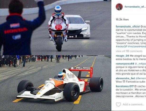 Alonso pilota McLaren de Senna no Japão