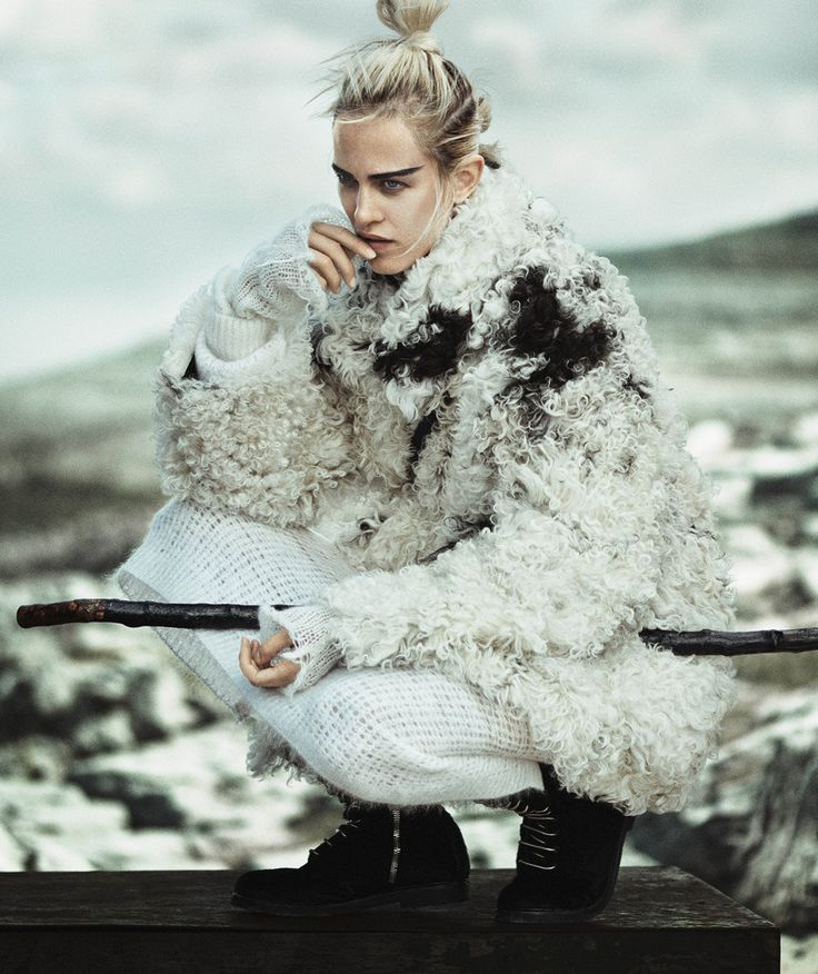 The Nature Of Knits: Aymeline Valade By Boo George For Vogue Japan January 2015