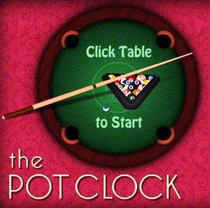 The Pot Clock - Play The Pot Clock game online. (pool, snooker, billiard, cool, funny, skills, timer, cue, balls, top pool game ).