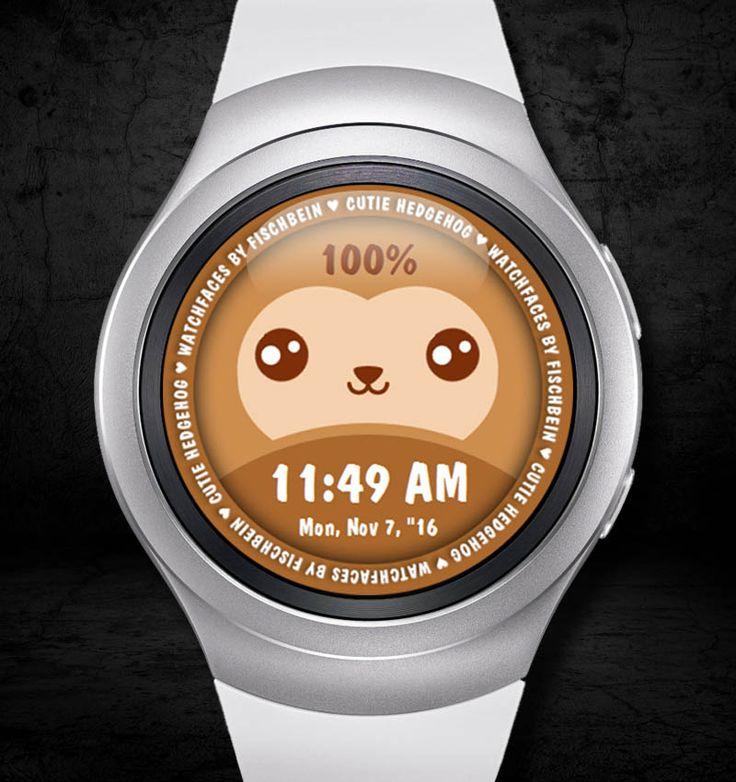 Cutie Hedgehog 12h – Watchfaces by Fischbein