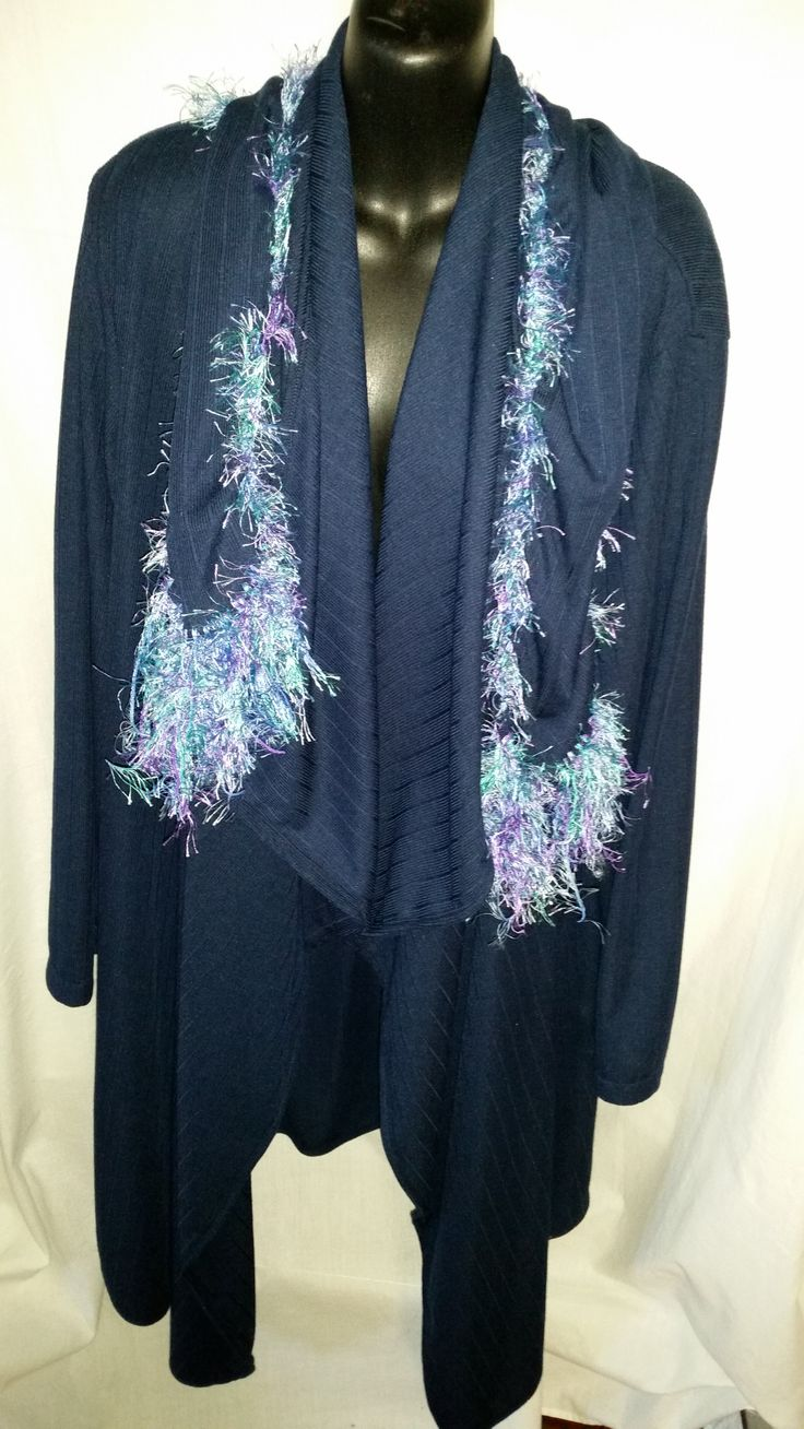 This is my Navy Drape Jacket with matching scarf to go with that I am selling