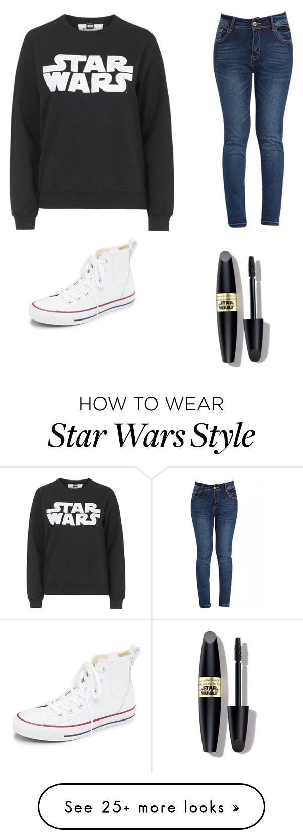 """Star Wars"" by paytonklug on Polyvore featuring Tee and Cake, Converse, Max Factor, women's clothing, women's fashion, women, female, woman, misses and juniors"