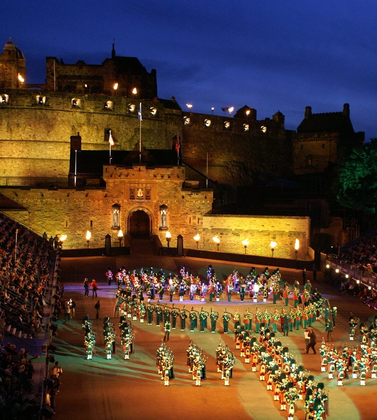 Edinburgh Tattoo, probably the coolest thing I've ever seen in my life.