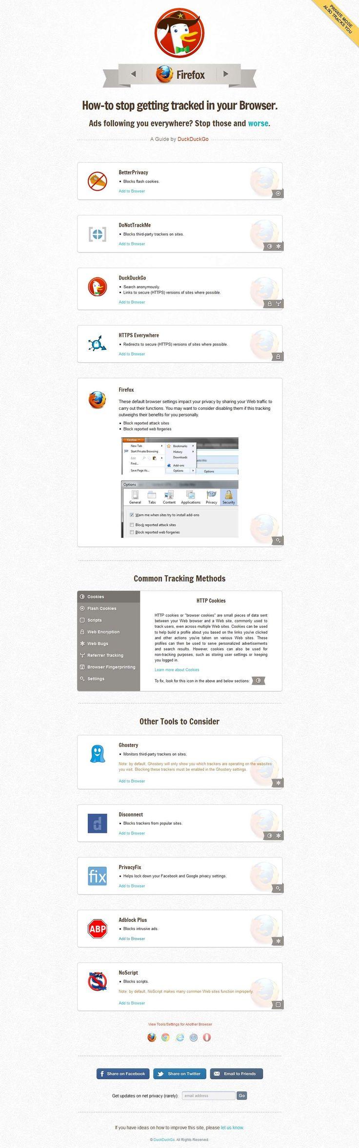 Blocca il tracciamento del tuo browser con i consigli di DuckDuckGo