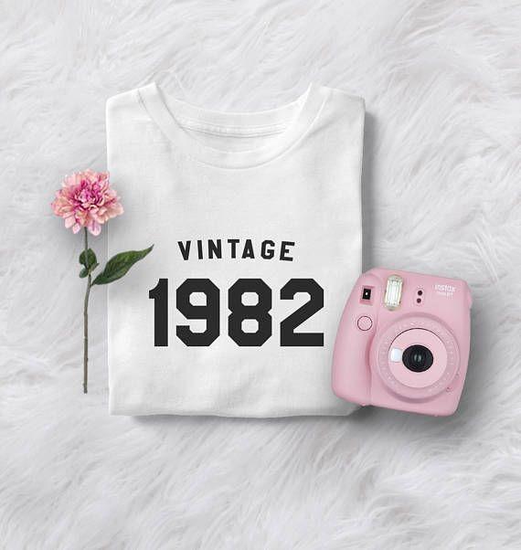 35th birthday shirt tshirt gift womens graphic tees vintage