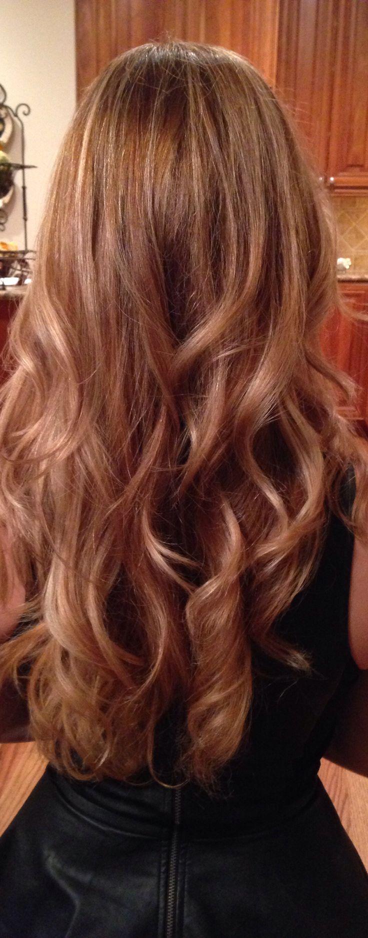 Carmel blonde hair. this actually might look good tooo