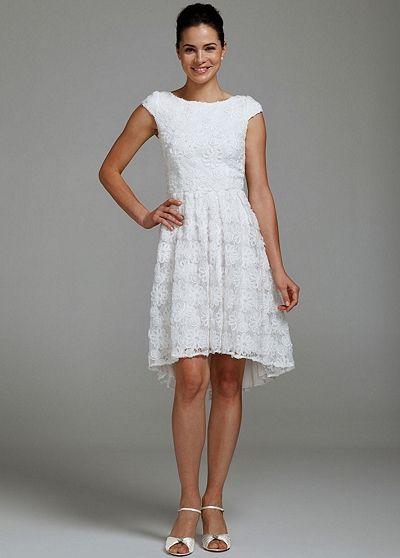 Cap Sleeve High Low Dress with Soutache 23DB48540